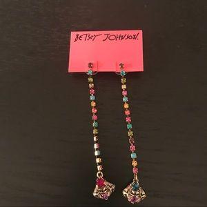 NWT Betsy Johnson Long Dangle Earrings